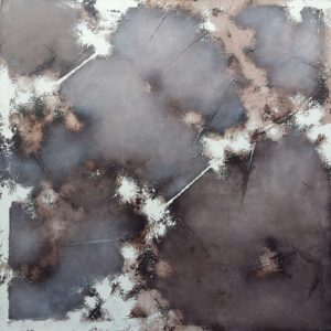 "Grey, Fall, 2016, oil on canvas, 39""x 39"""