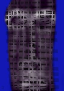 Thoughts under the blue Burqas, 2015, digital + Diasec Plexi/Plexi, edition 1/3, 35'' x 25""