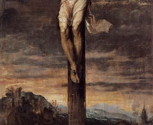 Titian's Crucifixion work torn after falling from the wall
