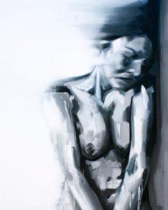 Black & White, 2016, oil on canvas, 47'' x 35.5''