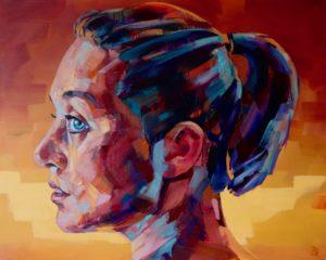Distinct, 2018, oil on canvas, 31.5'' x 39''